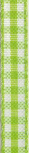 Rouleau de coton vichy vert et blanc