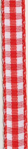 Ruban de coton vichy rouge et blanc