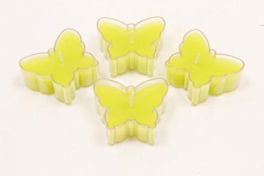 4 bougie chauffe plat papillon vert