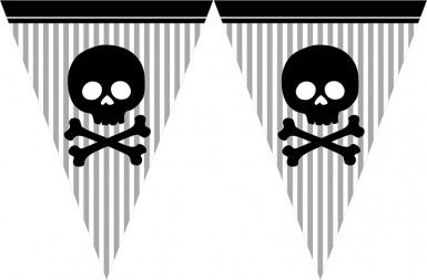 Guirlande papier Pirate Party