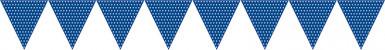 Guirlande papier bleu-1