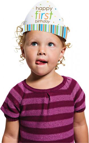 8 chapeaux carton Animaux  Premier Anniversaire Garçon