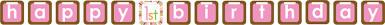 Guirlande papier Animaux Premier Anniversaire Fille