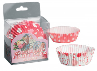 72 moules papier cupcake cœurs