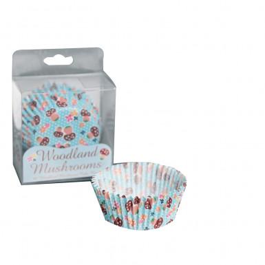 60 moules papier cupcake champignons