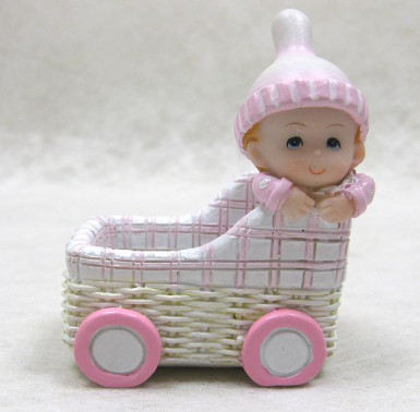 Contenant résine panier bébé fille