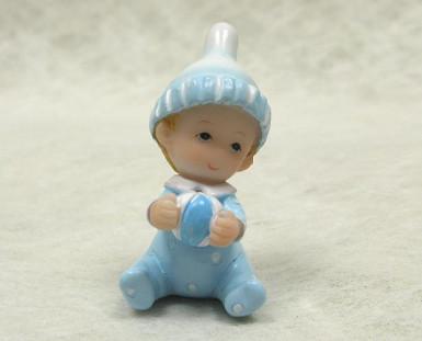 2 figurines résine bébé garçon