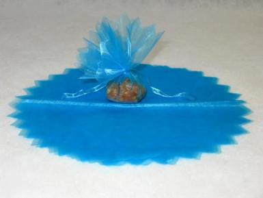 10 voiles rond brillant dragées turquoise