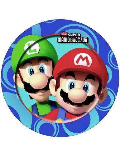 8 Assiettes en carton Mario Bros™ 23 cm