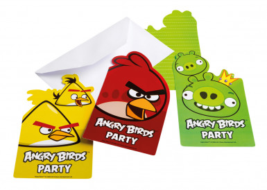 6 invitations carton Angry Birds™