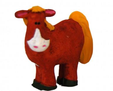 Figurine plastique ferme cheval 5 cm