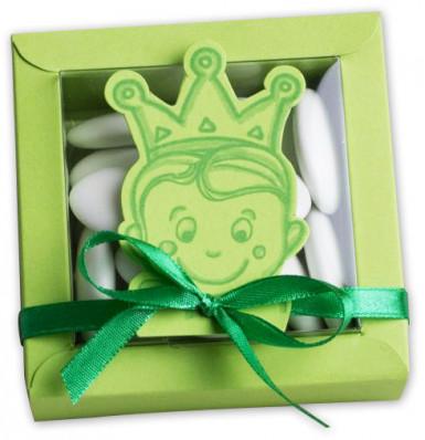 2 boîtes + vignettes carton Prince Vert