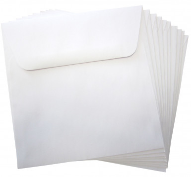 10 enveloppes blanche papier