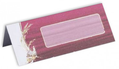 10 cartes de table carton Communion Bordeaux