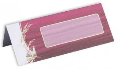 10 cartes de table carton Communion Bordeaux