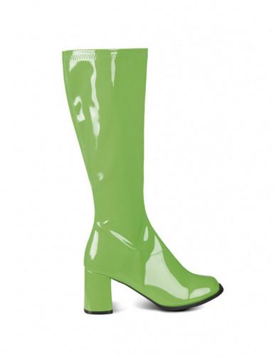 Bottes vertes vernies femme