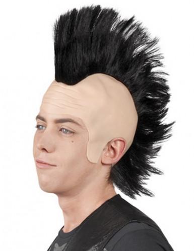 Perruque punk crête homme