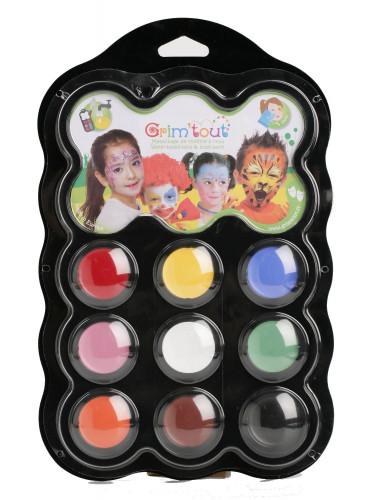 Palette maquillage 9 couleurs Carnaval Grim Tout
