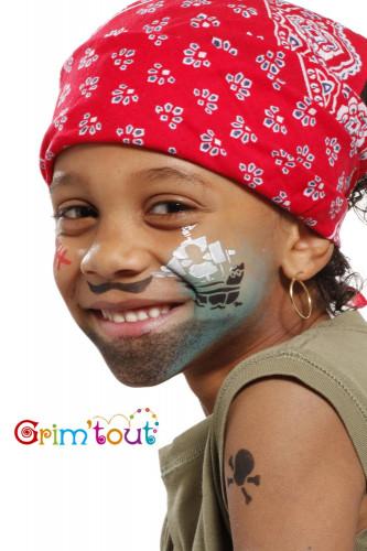 Pochoir réutilisable pour maquillage Chevalier et pirate Grim Tout-1