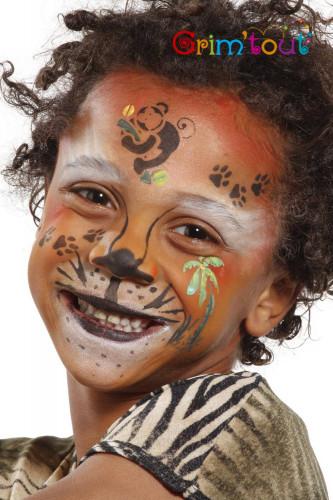 Pochoir réutilisable pour maquillage Animaux de la jungle Grim Tout-1