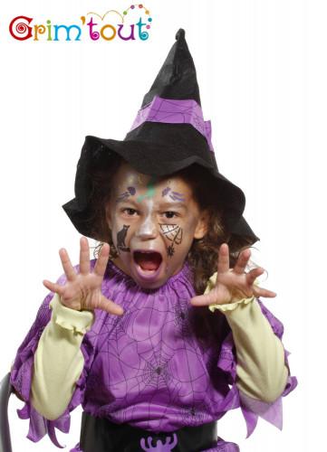 Pochoir réutilisable pour maquillage Sorcière et Halloween Grim Tout-1