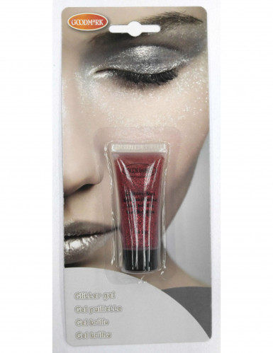 Gel à paillettes rouges 14 g