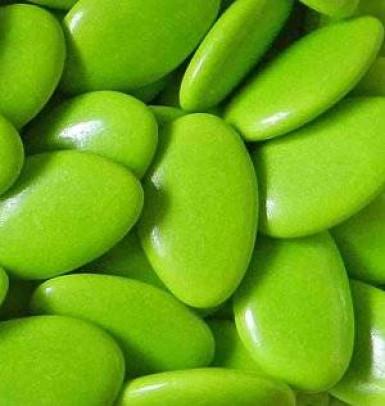 Dragées chocolat couleur vert 500 gr