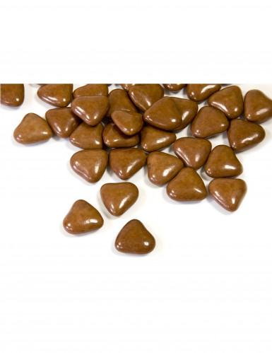Dragées mini coeur chocolat couleur marron