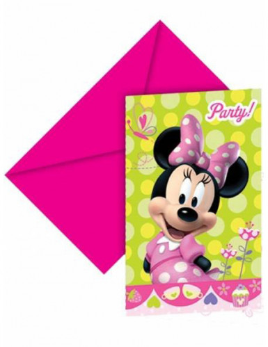 6 invitations carton Minnie Bow-Tique™