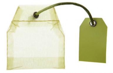 4 contenants sachets de thé organdi vert