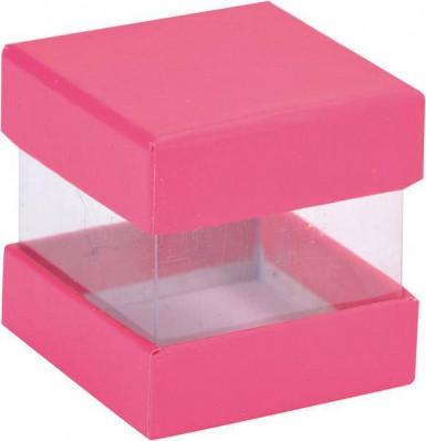 6 Boîtes cube carton rose 4 x 4 x 4 cm !