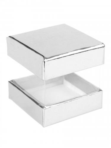 6 Boîtes cube carton argent