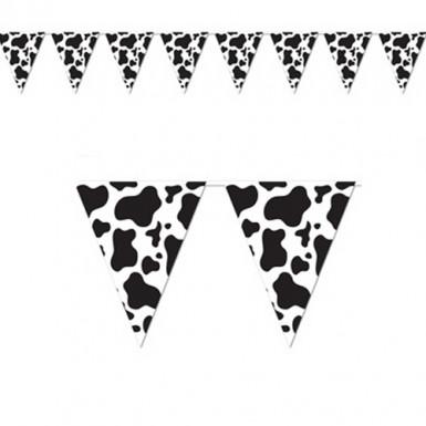 Guirlande fanions papier Vache