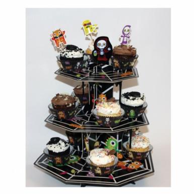 Présentoir à petits gâteaux carton Petits Monstres