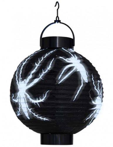 Lanterne à led araignées papier Halloween