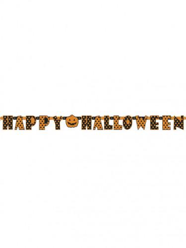 Guirlande articulée Halloween orange et noire à pois