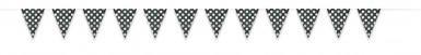 Guirlande fanions noire à  pois blancs-1