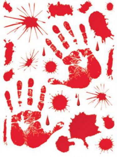 Stickers taches de sang