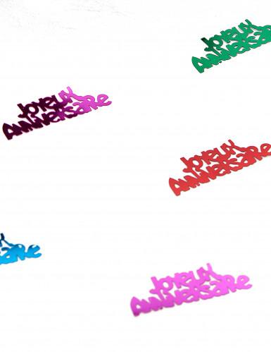 Confettis de table anniversaire multicolores