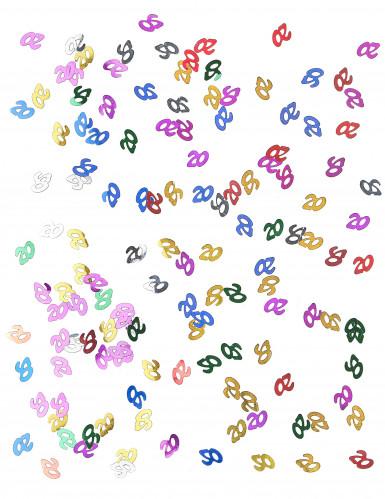 Confettis de table multicolores chiffre 20-1