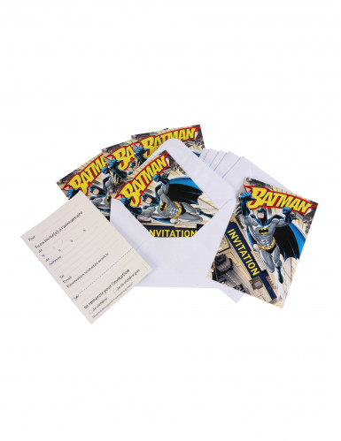 6 Cartes d'invitations + enveloppes  Batman™