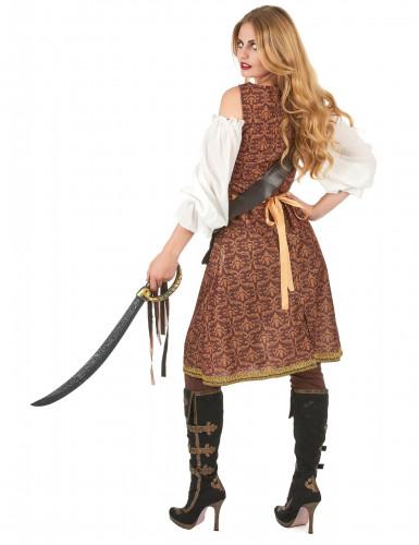 Déguisement pirate marron femme-2