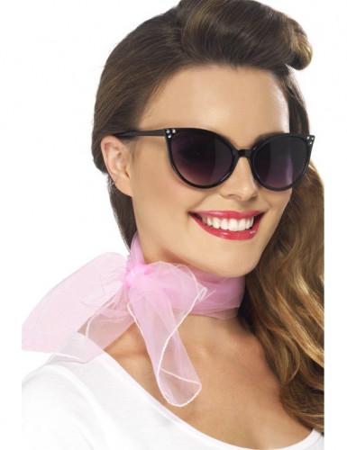 Foulard rose femme
