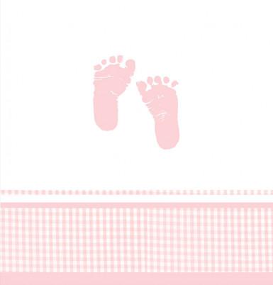Nappe plastique pieds roses 137 x 274 cm