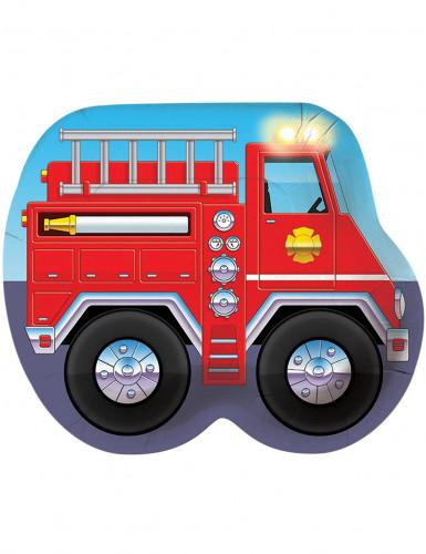 8 Assiettes en carton pompier 26 cm