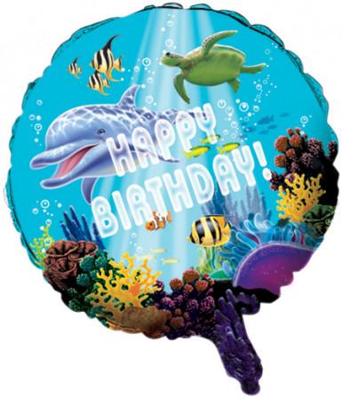 Ballon aluminum océan 46 cm