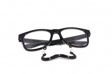 Lunettes noires à moustache-1