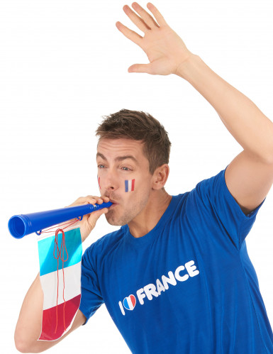 Trompette football avec drapeau France-1