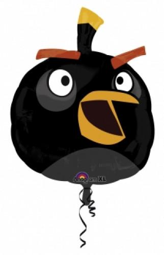 Ballon aluminum géant  Angry Birds™ noir