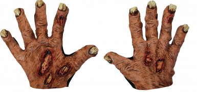 Gants zombie adulte halloween